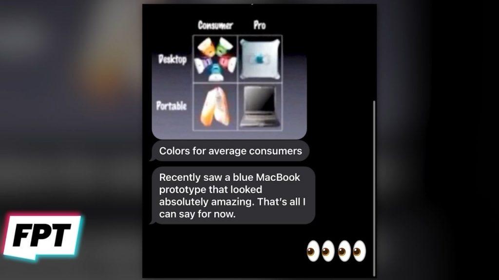 Blue apple Macs
